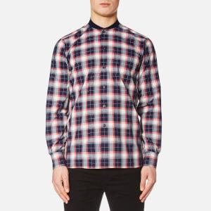 Maison Kitsuné Men's Check James Rib Long Sleeve Shirt - Multicolour Check