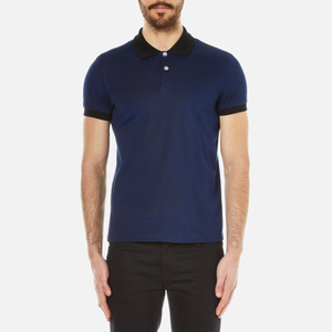 Versus Versace Men's Lion Backprint Polo Shirt - Bluette/Black