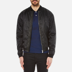 Versus Versace Men's All Over Lion Print Bomber Jacket - Black
