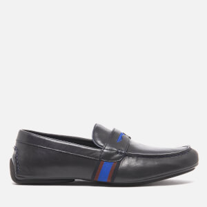 PS by Paul Smith Men's Ride Leather Driving Shoes - Dark Navy Milano Crust