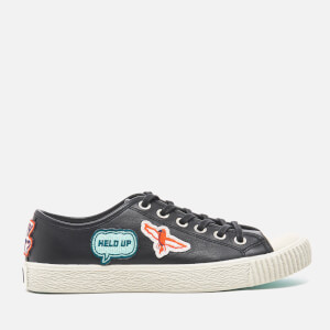 PS by Paul Smith Women's Inna Vulcanised Embroidered Motif Trainers - Black Badges Mono Lux