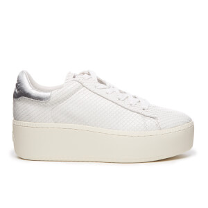 Ash Women's Cult Micro Cobra Flatform Trainers - White/Silver