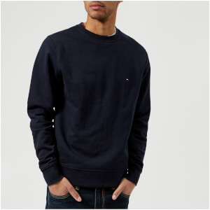 Tommy Hilfiger Men's Basic Crew Neck Long Sleeve Sweatshirt - Midnight