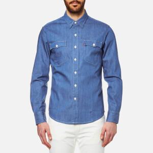 Levi's Orange Tab Men's Long Sleeve Shirt - Baby Blue Denim