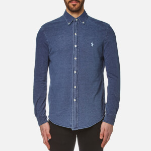 Polo Ralph Lauren Men's Featherweight Mesh Slim Fit Shirt - Indigo