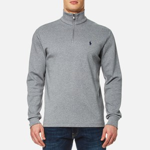 Polo Ralph Lauren Men's 1/4 Zip Pima Cotton Sweatshirt - Grey