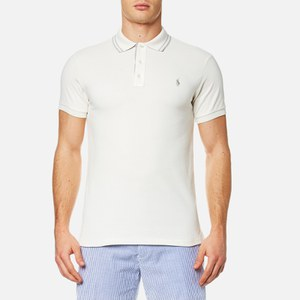 Polo Ralph Lauren Men's Custom Fit Tipped Polo Shirt - Cream