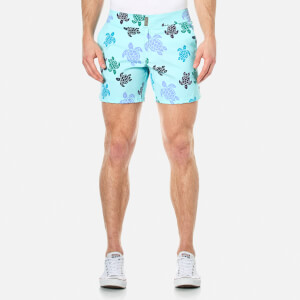 Vilebrequin Men's Merise Multi-Colour Turtles Swim Shorts - Lagoon