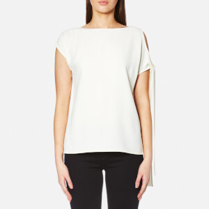 Helmut Lang Women's Sleeve Tie Top - Ivory