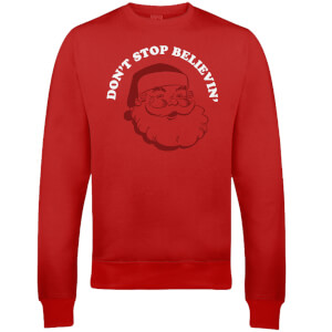 Don't Stop Believin' Christmas Sweatshirt - Rot