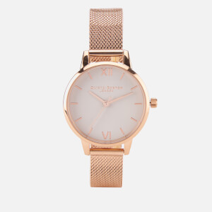 Olivia Burton Women's Rose Gold Mesh Bracelet Watch - Rose Gold