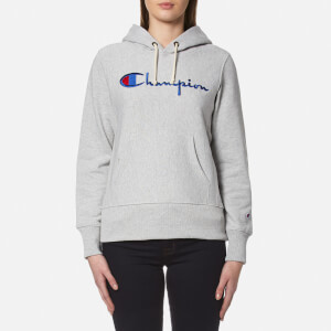 Champion Women's Hooded Sweatshirt - Grey