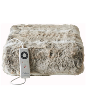 Dreamland Relaxwell 16340 Intelliheat Luxury Heated Faux Fur Throw - Alaskan Husky