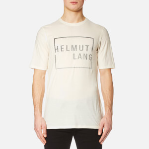 Helmut Lang Men's Square Logo T-Shirt - Cream
