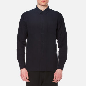 Folk Men's Long Sleeve Shirt - Soft Navy