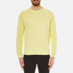 Folk Men's Crew Neck Sweatshirt - Soft Lemon