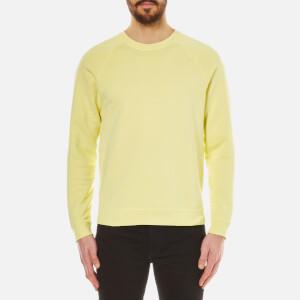 Folk Men's Crew Neck Sweatshirt - Soft Lemon