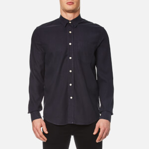 Our Legacy Men's Classic Silk Shirt - Navy