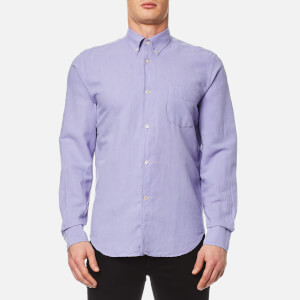Our Legacy Men's 1950's Long Sleeve Cotton Linen Shirt - Orchid