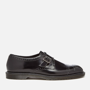 Dr. Martens Men's Henley Cobden Monk Strap Shoes - Black Polished Smooth