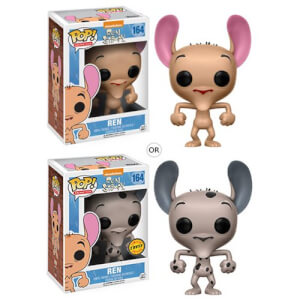Figurine Pop! Cartoon Ren Ren et Stimpy ou Variante Chase