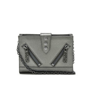 KENZO Women's Kalifornia Wallet on a Chain - Gunmetal