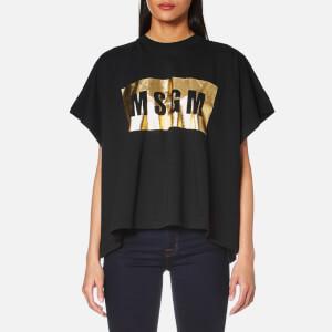 MSGM Women's Oversized Logo T-Shirt - Black