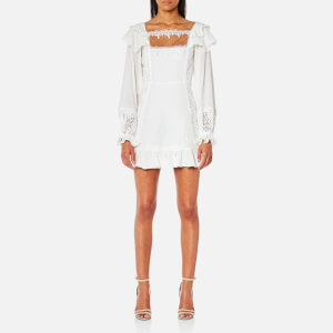For Love & Lemons Women's Crema Silk Linen Dress - White