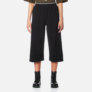 DKNY Women's Pull On Crop Pants with Elastic Waistband - Black