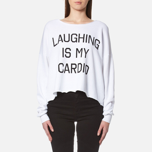 Wildfox Women's Laughing is My Cardio Sweatshirt - Clean White
