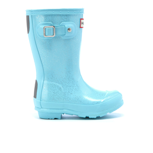 Hunter Toddlers' Original Glitter Wellies - Pale Mint