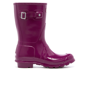 Hunter Women's Original Short Gloss Wellies - Violet