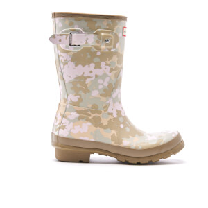 Hunter Women's Original Short Flectarn Camo Wellies - Pale Sand