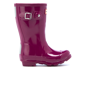 Hunter Toddlers' Original Gloss Chelsea Boots - Bright Violet