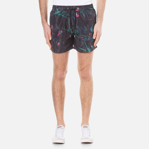 Paul Smith Men's Cockatoo Print Swim Shorts - Black