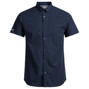Jack & Jones Men's Core Day Check Short Sleeve Shirt - Sky Captain