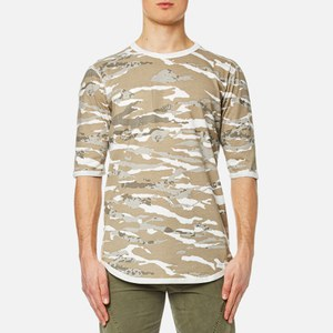 Maharishi Men's Reversible Camo T-Shirt - Naturale