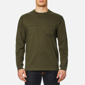 Maharishi Men's Long Sleeve T-Shirt Militaire Couvert - Maha Olive