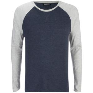 T-Shirt Osbourne Manches Longues Raglan Brave Soul -Marine