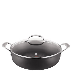 Jamie Oliver by Tefal H9029044 Hard Anodised Non-Stick Shallow Pan With Lid - 30cm