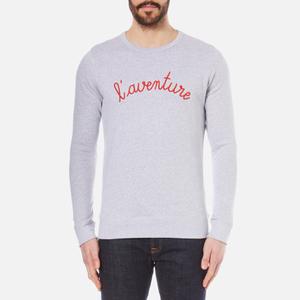 Maison Labiche Men's L'Aventure Sweatshirt - Heather Grey