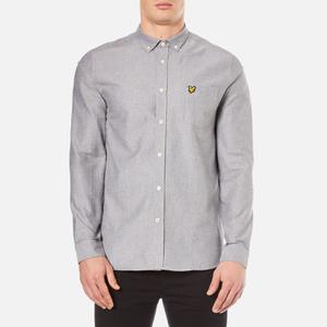 Lyle & Scott Men's Twill Mouline Long Sleeve Shirt - Light Grey Marl