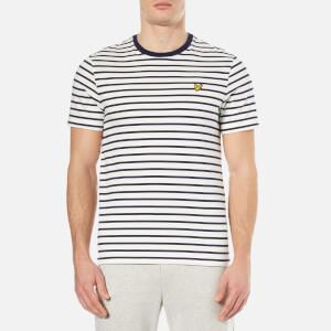 Lyle & Scott Men's Breton Stripe T-Shirt - Off White