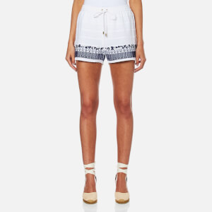 MICHAEL MICHAEL KORS Women's Embroidered Shorts - White