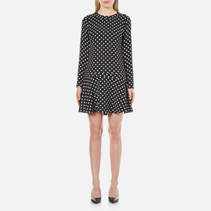 MICHAEL MICHAEL KORS Women's Evelyn Dot Flounced Dress - Black