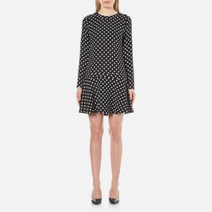 MICHAEL MICHAEL KORS Women's Evelyn Dot Flounced Dress - Black