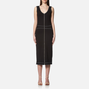 McQ Alexander McQueen Women's Contrast Tank Dress - Darkest Black