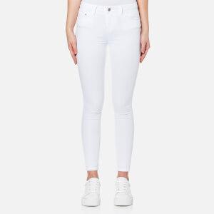 Waven Women's Freya Classic Skinny Ankle Grazer Jeans - White