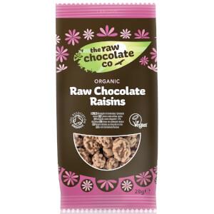 The Raw Chocolate Company Organic Raw Chocolate Raisins Snack Pack - 28g (Pack of 12)