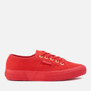 Superga Women's 2750 Cotu Classic Trainers - Red/Gold